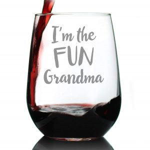 Cute Funny Stemless Wine Glass,
