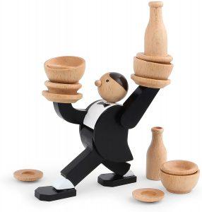 Kikkerland Don't Tip The Waiter Stacking Game