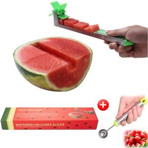 Yueshico Stainless Steel Watermelon Slicer Cutter Knife Corer Fruit