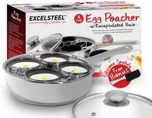 Non Stick Egg Poacher Pan Steel
