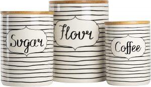 Tea, Flour, and Sugar Canisters