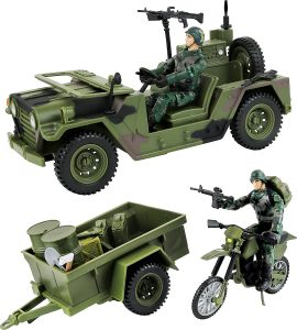 military jeep and truck